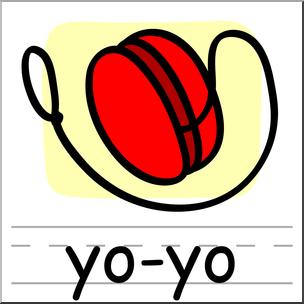 clip free Clip art basic words. Yo yo clipart color