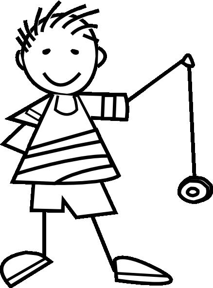clipart black and white stock Yoyo clipart outline. Yo kid clip art