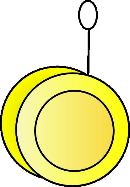 vector library stock Yellow yo clip art. Yoyo clipart kid
