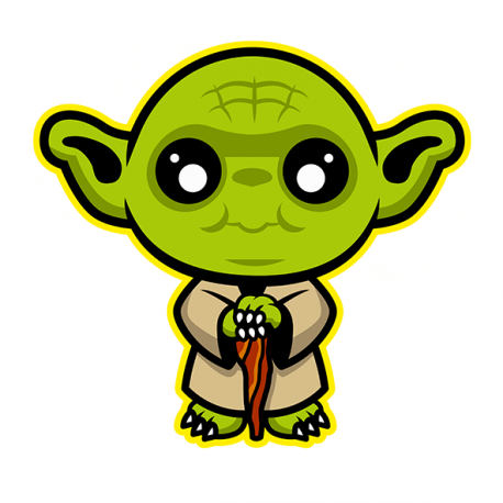 clipart black and white stock Cute Yoda PNG Transparent Cute Yoda