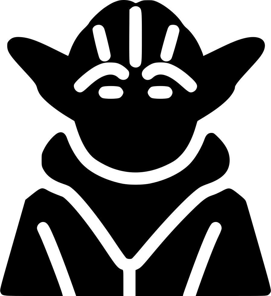 banner Master Yoda Svg Png Icon Free Download