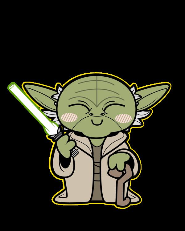 clip stock starwars yoda green laser cane cloak alien star space