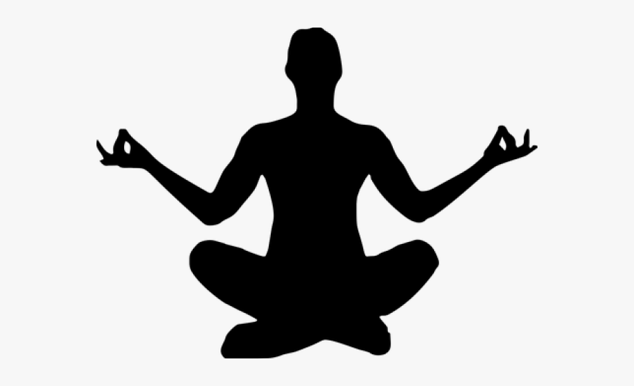 clip art black and white Yoga clipart. Calm silhouette transparent background