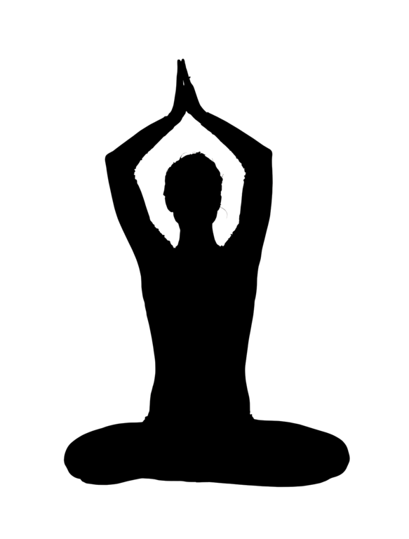 image transparent library Yoga Silhouette at GetDrawings