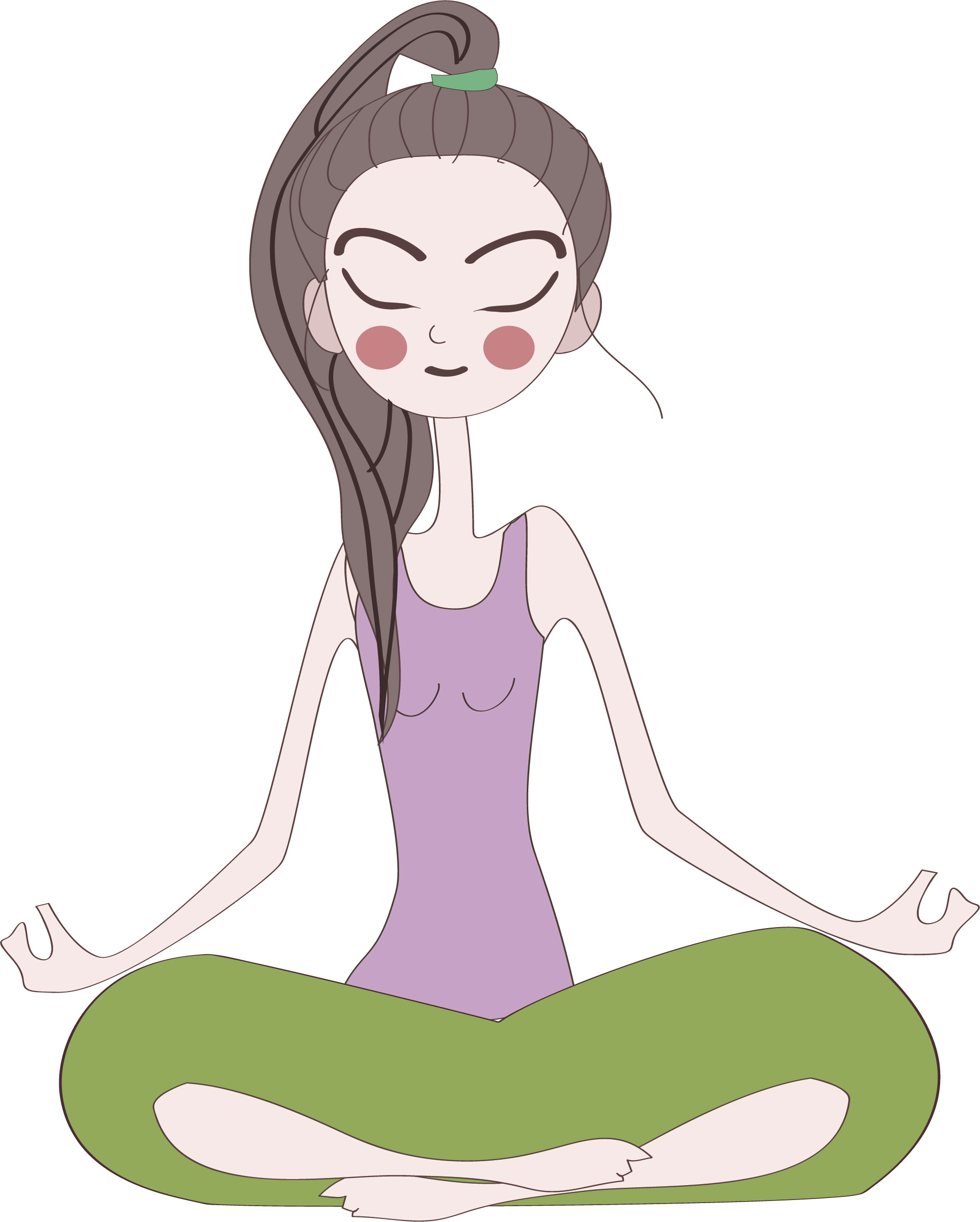 clip black and white download Cartoon Yoga instructor