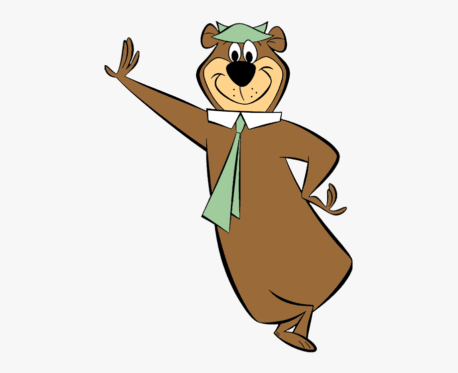 svg black and white download Yogi bear clipart. Of non taken and