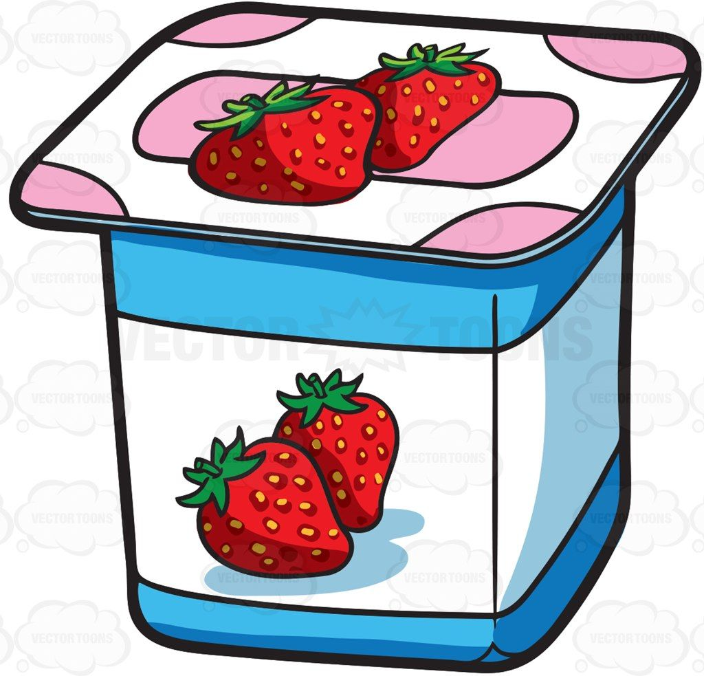 picture library library Yogurt clipart. A one serving strawberry