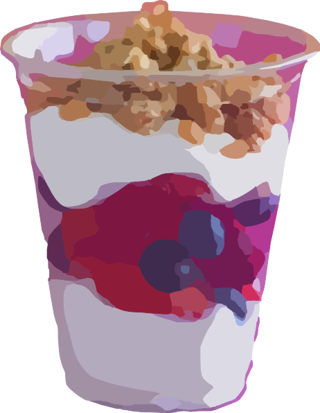 clipart transparent stock Yogurt clipart. Parfait fruit clip art.