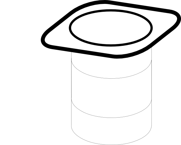 stock Clip art at clker. Yogurt clipart black and white.