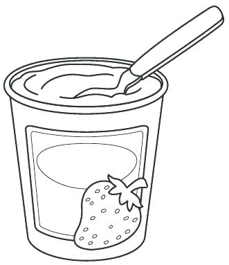 vector stock frozen yogurt coloring pages