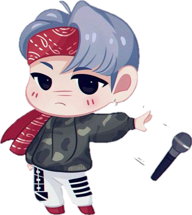black and white stock yoongi suga bts micdrop chibi fanart cute