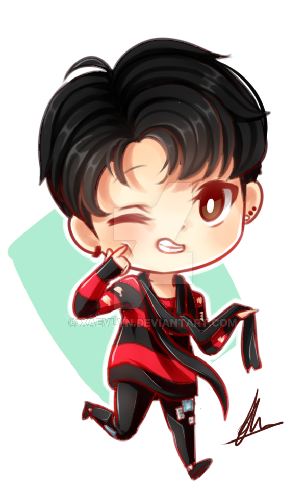 clipart library library BTS Jungkook chibi by xaevlyn on DeviantArt