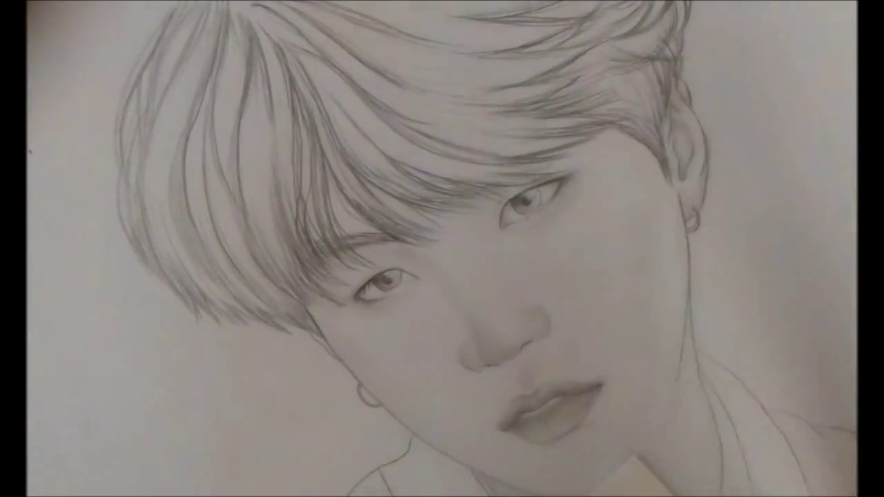 image black and white download yoongi drawing simple #144074252