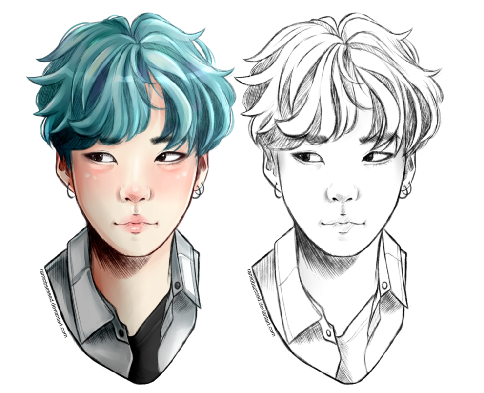clipart freeuse library Min Yoongi by ramiobsessed on DeviantArt