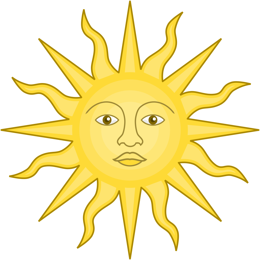 graphic black and white library York clipart. File sun of svg