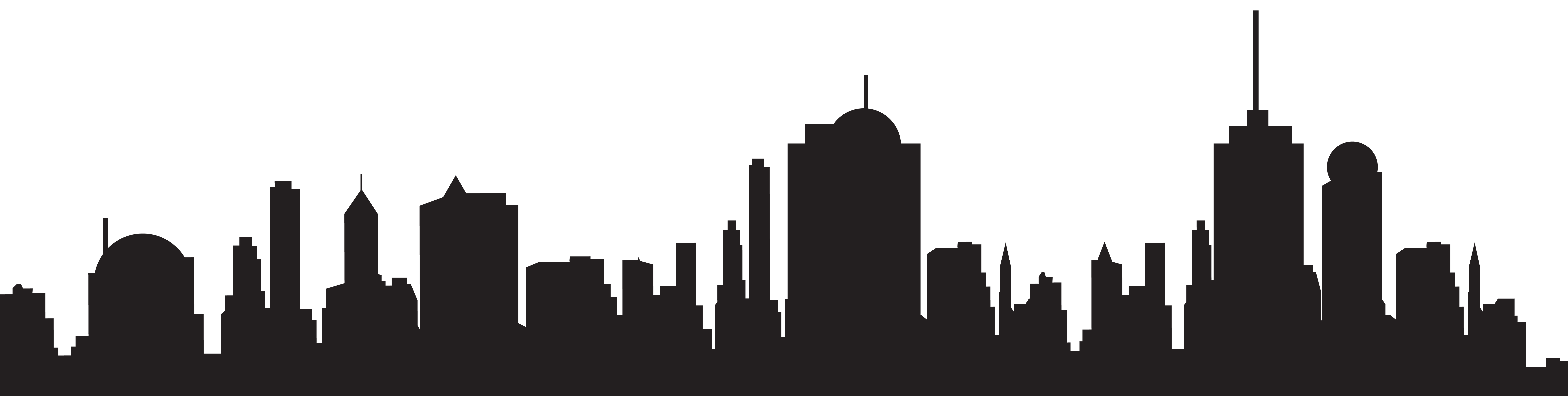 image free download City skyline clipart black and white. New york silhouette free