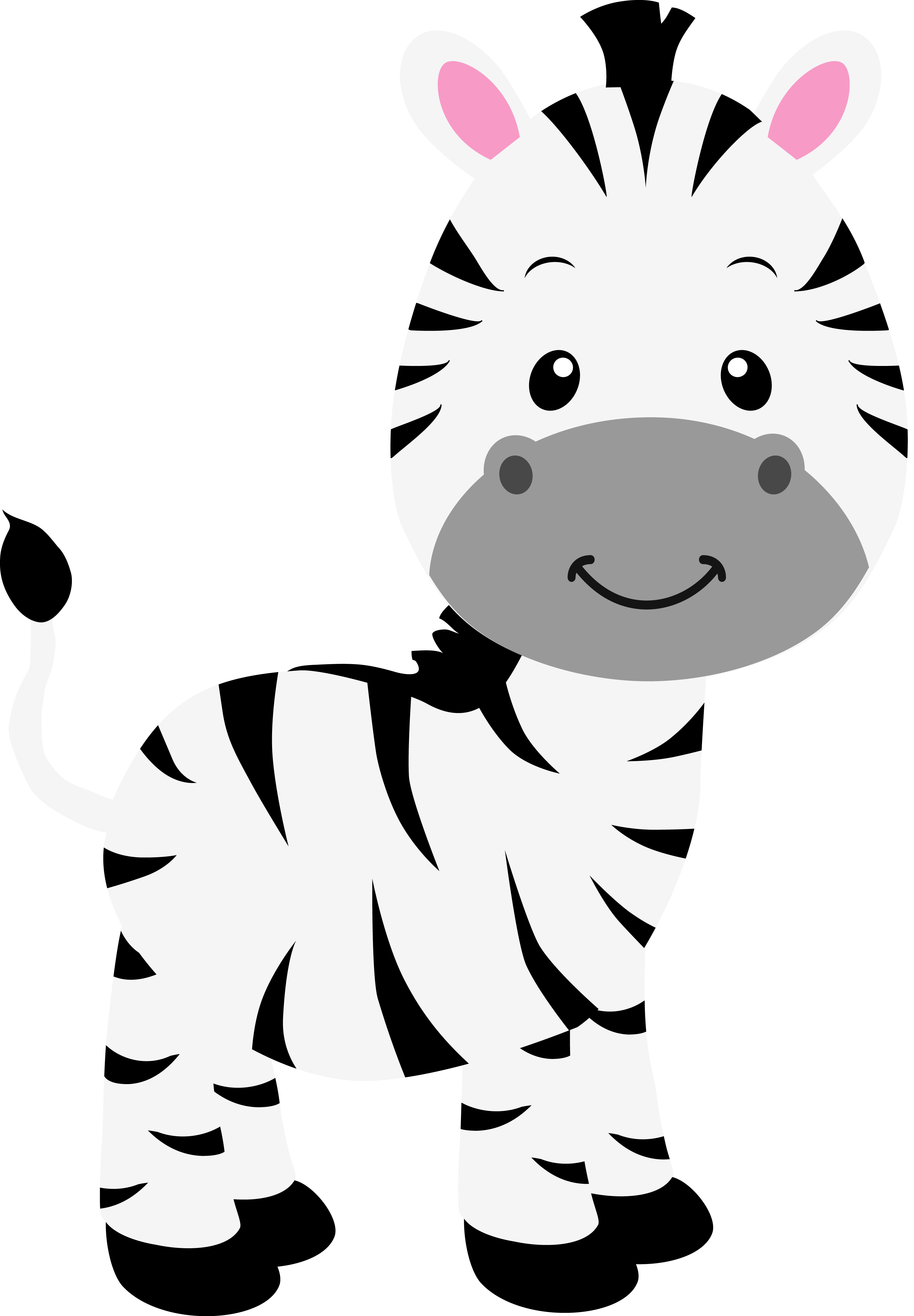 clipart black and white stock Forest animal clipart black and white. Cebra en alta resoluci