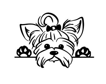 vector library library Yorkie clipart. Etsy .