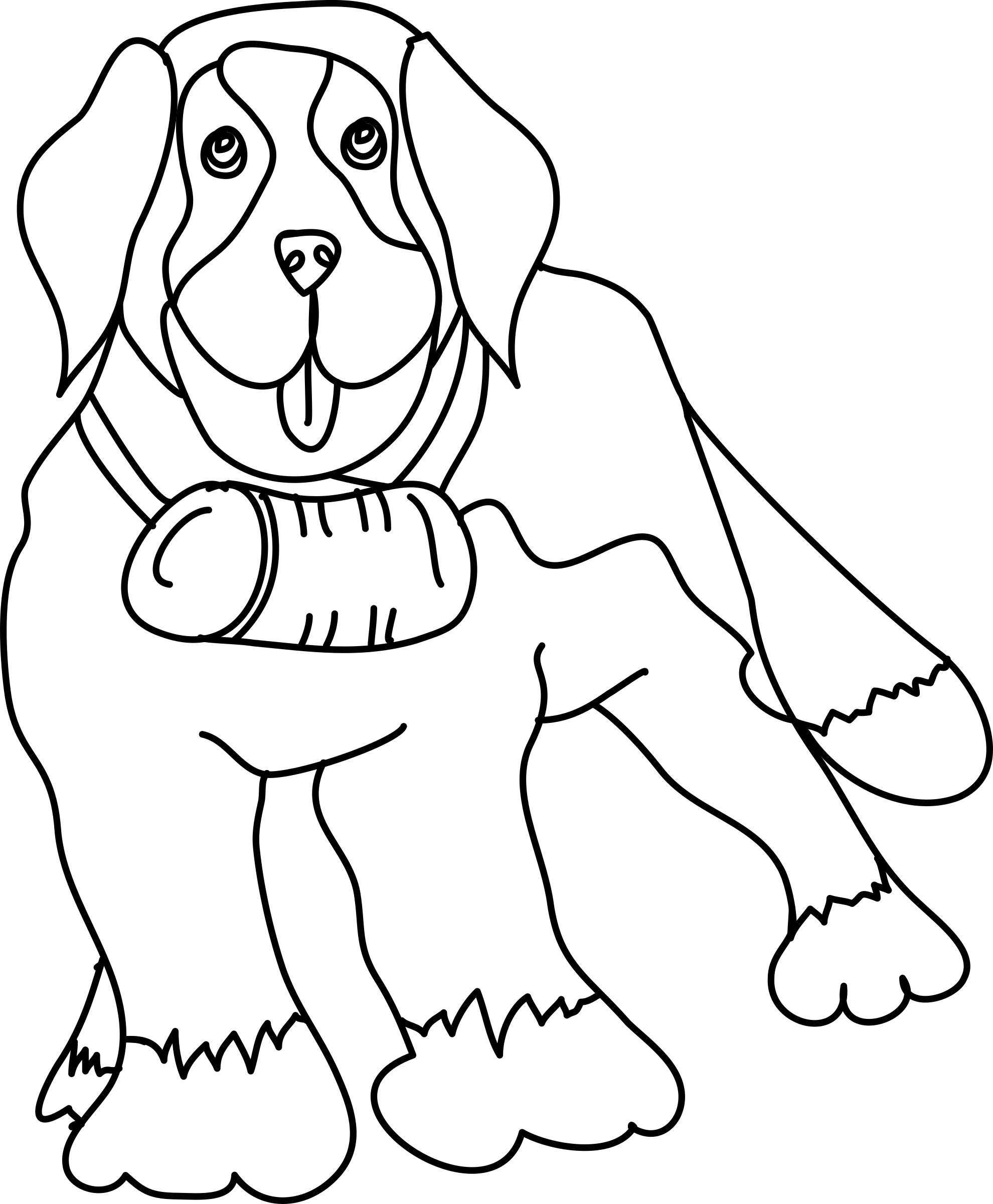 png black and white library Dog Outline Drawing at GetDrawings