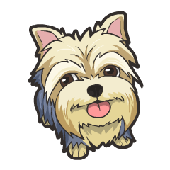 freeuse stock Cute sticker for Terrier