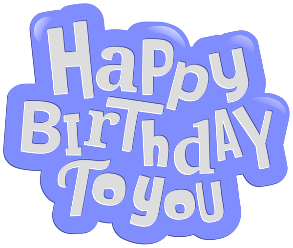 picture royalty free download You clipart png. Happy birthday to blue