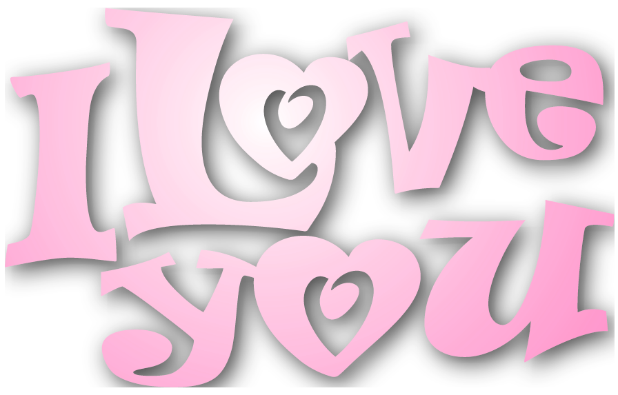picture library download Valentines Pink I Love You PNG Clipart