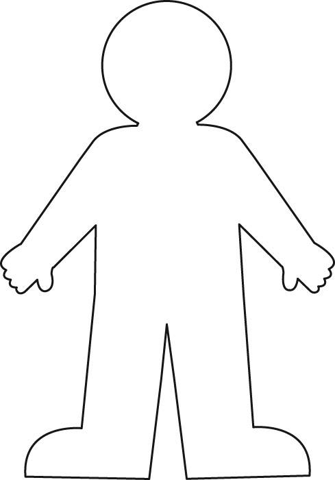 picture black and white library Free of for kids. Youth clipart outline person