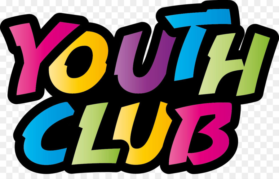 clip royalty free download Youth clipart youth center. Logo text yellow pink