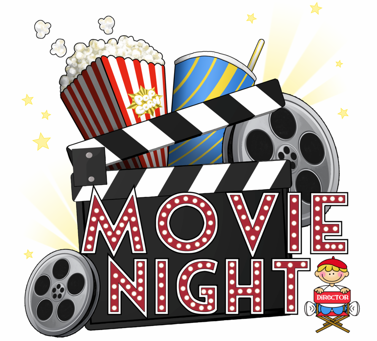 clip freeuse download Free cliparts download clip. Kids movie night clipart