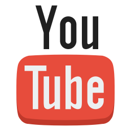 graphic black and white Social youtube Icon