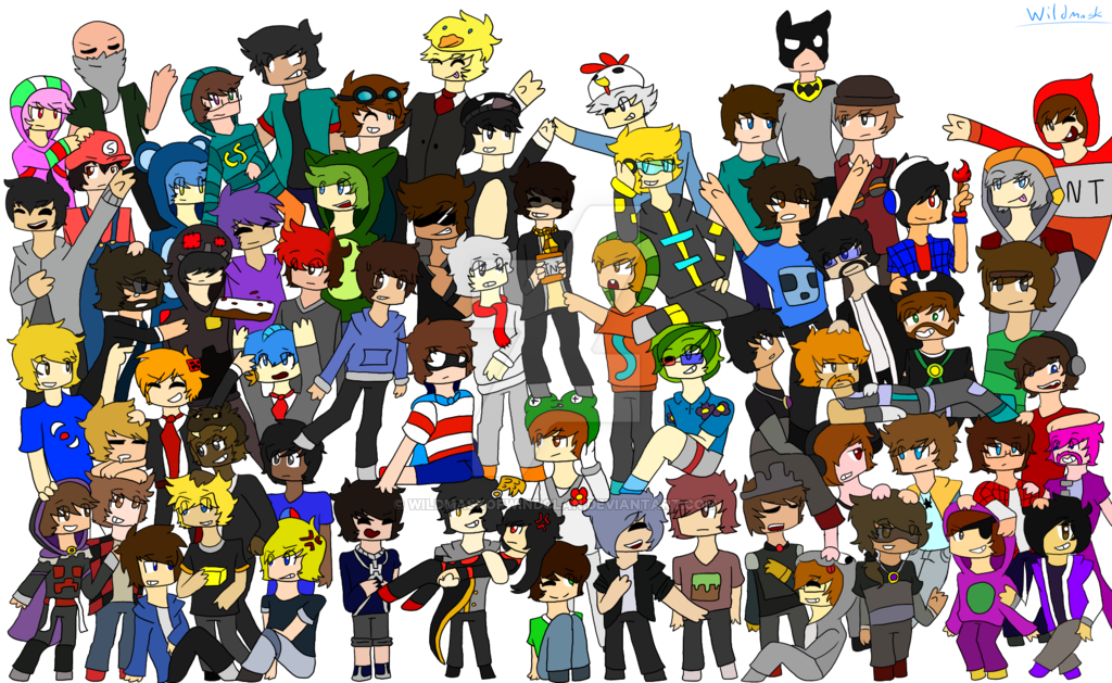 clip art free stock Drawn Collage youtuber drawing