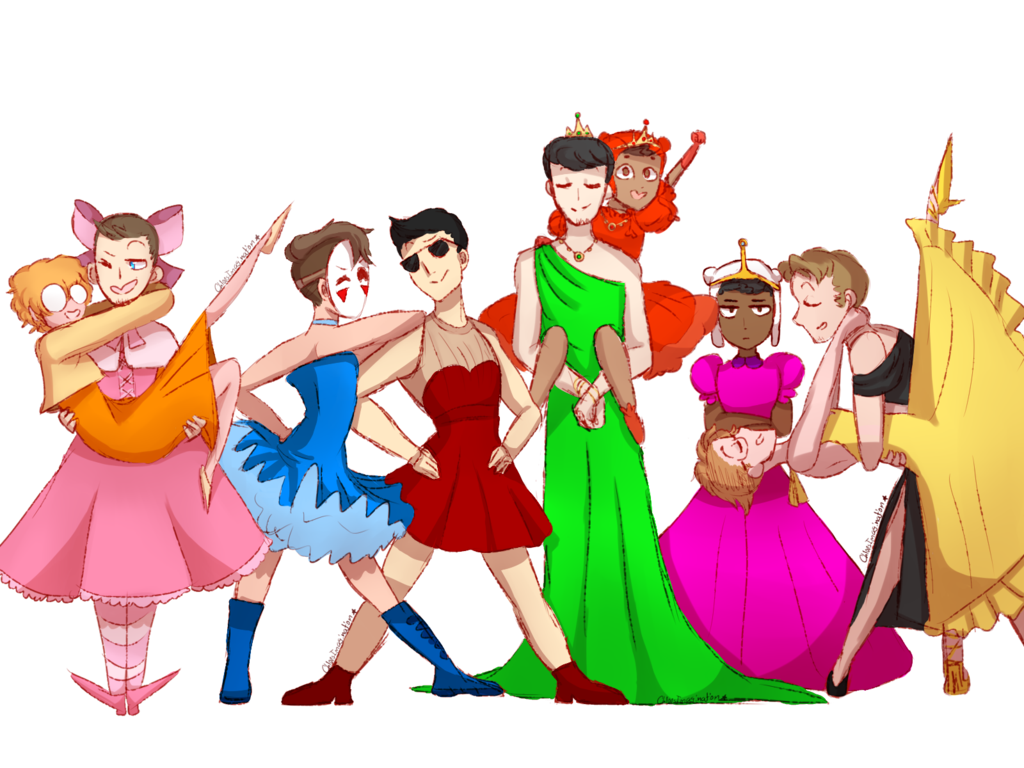 banner free stock Banana dress squad au by ChloesImagination