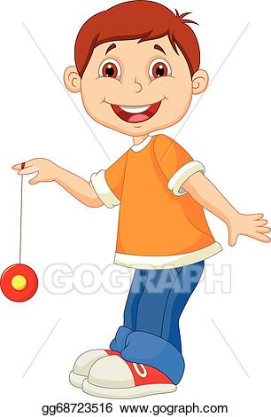 free download Yoyo clipart cartoon. Vector little boy playing