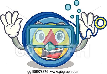 clip royalty free download Yoyo clipart cartoon. Vector art diving character