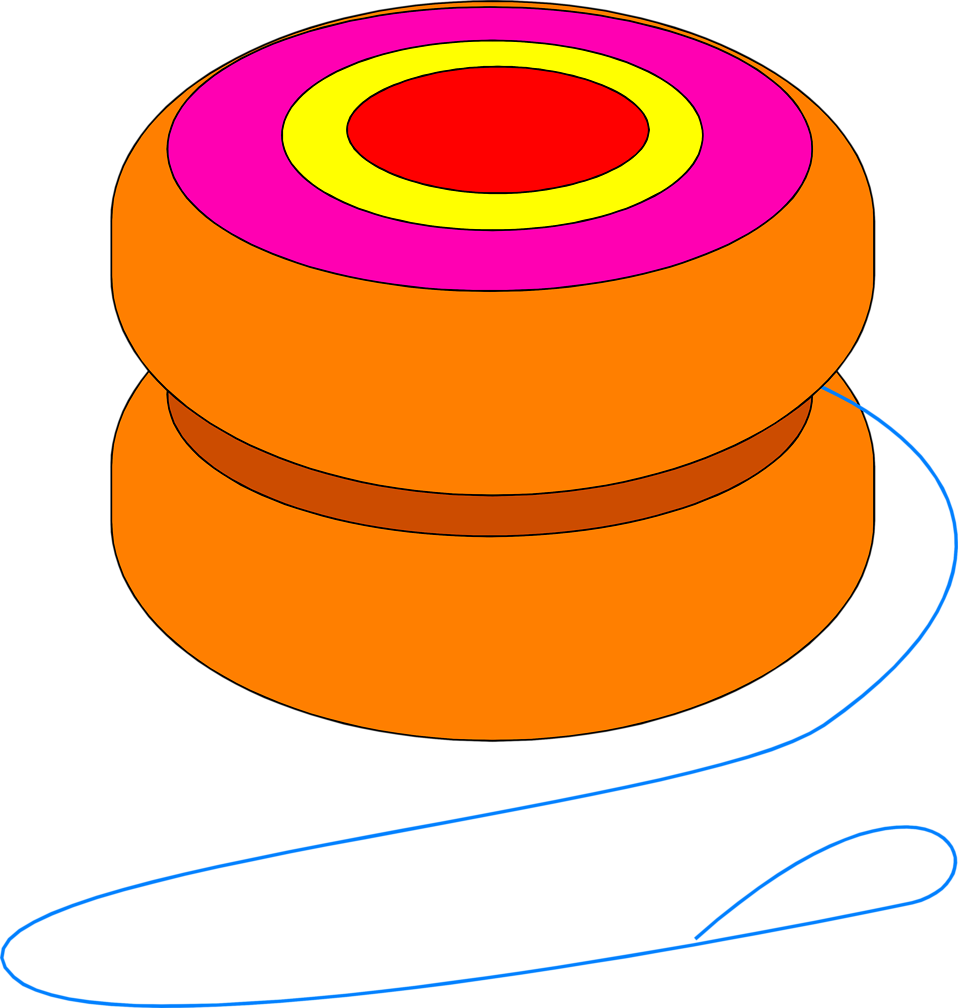 graphic royalty free download Yoyo clipart orange objects