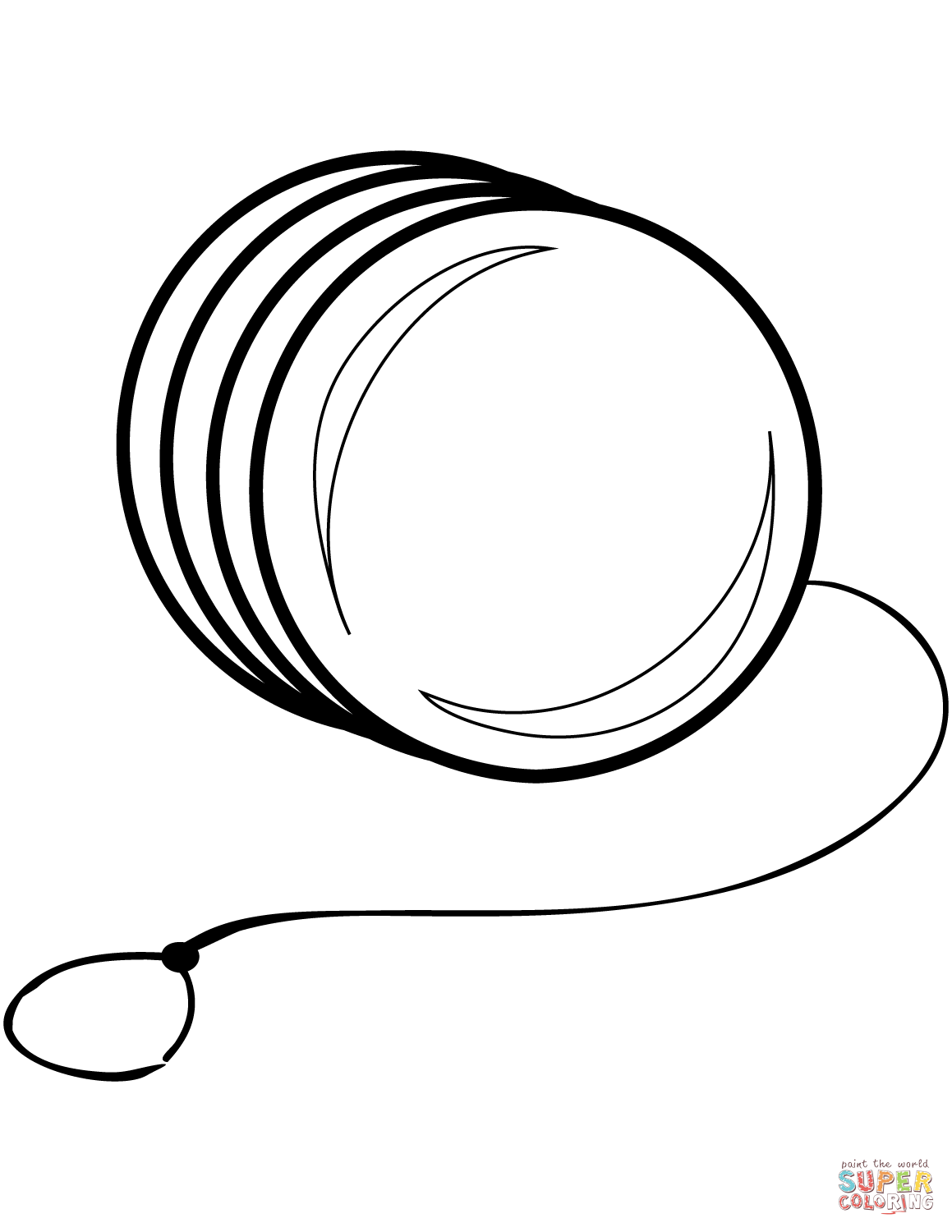 clip free library Yoyo clipart coloring page. Yo free printable pages