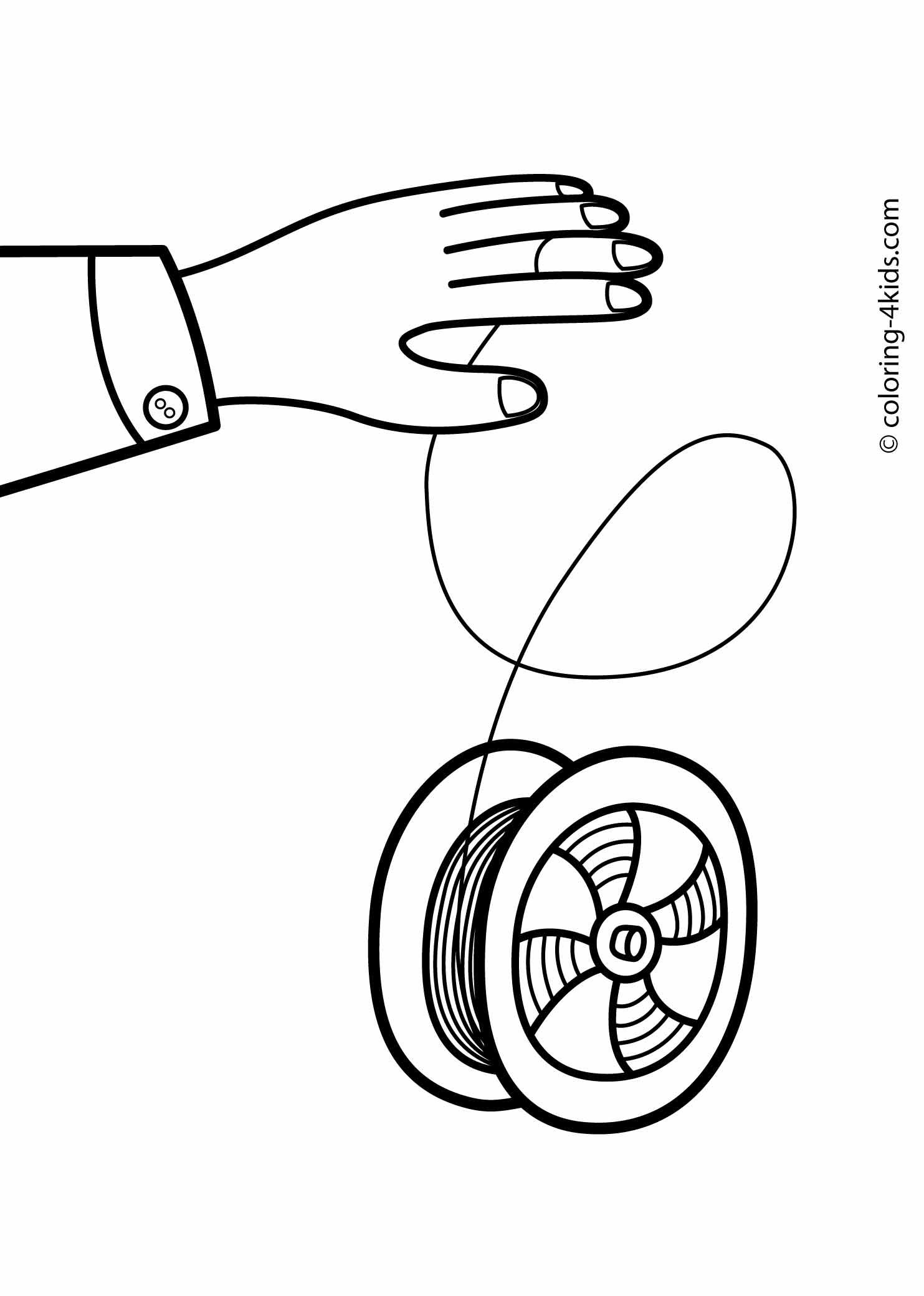 svg black and white library Yoyo clipart coloring page. Yo pages for kids