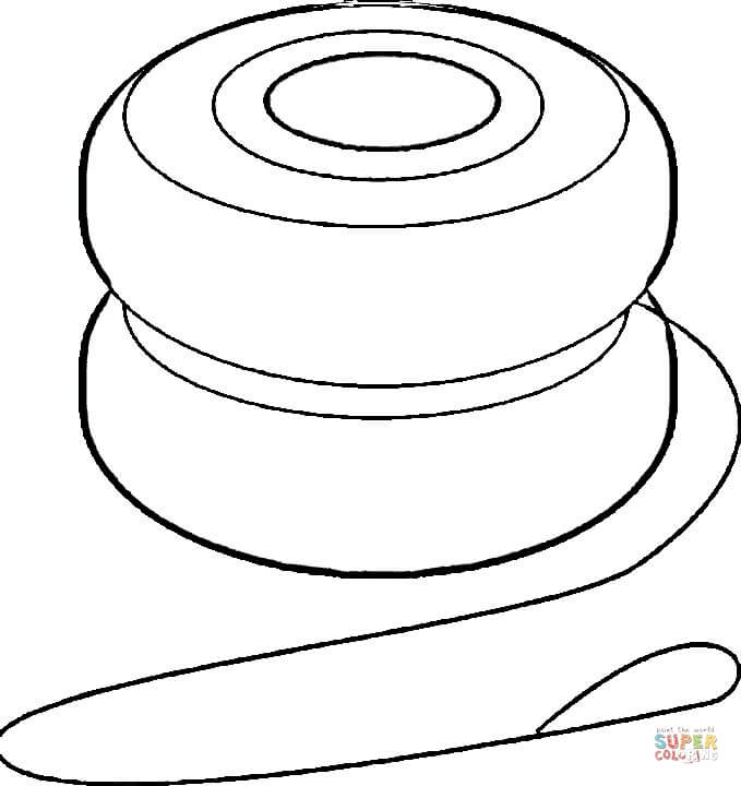 clip transparent Free printable pages . Yoyo clipart coloring page