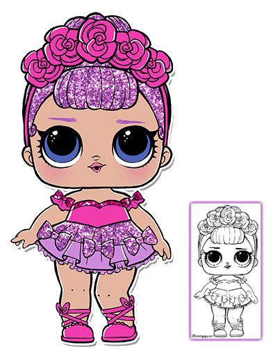 image free library Lol surprise doll pages. Yoyo clipart coloring page