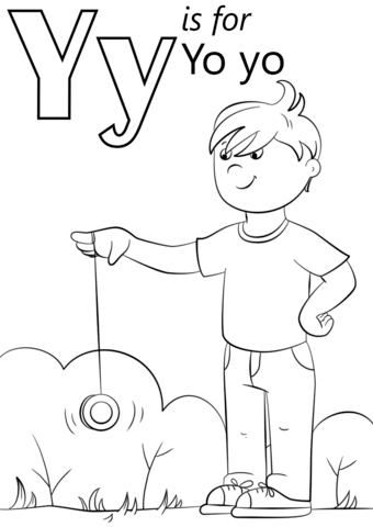 jpg transparent Letter y is for. Yoyo clipart colouring