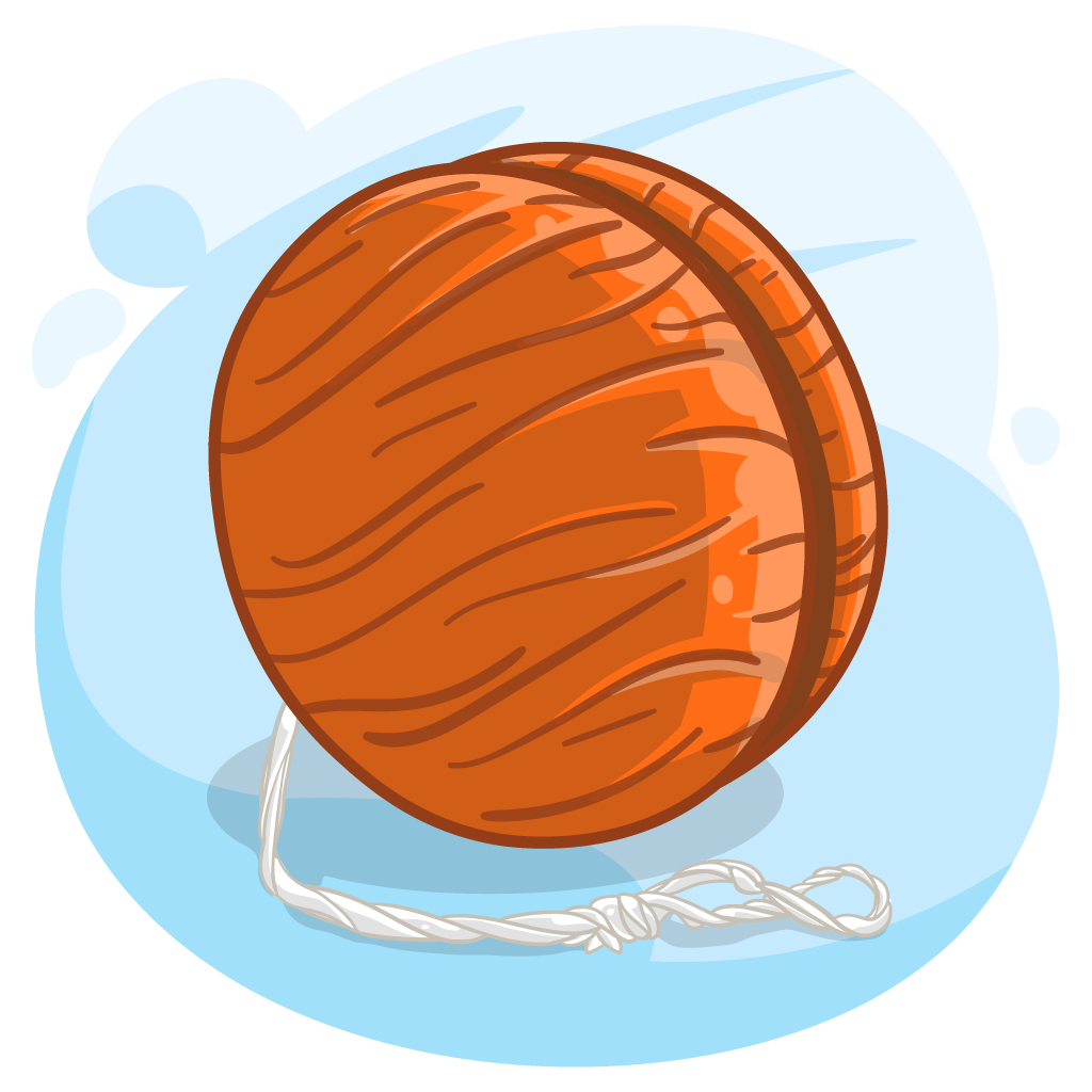 vector royalty free download  for free download. Yoyo clipart orange