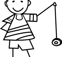 banner transparent Yoyo Black And White Clipart