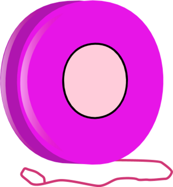 clipart stock Yoyo clipart pink