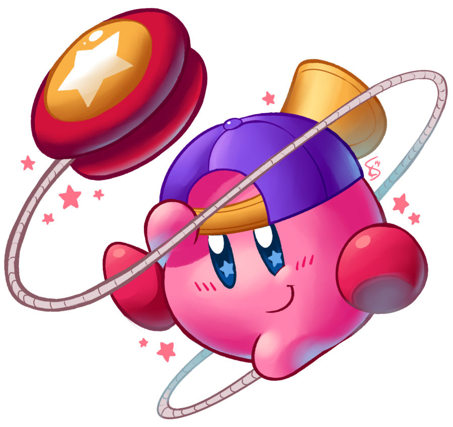 graphic freeuse library Yo yo clipart real. Kirby by torkirby on