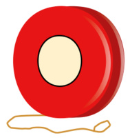 black and white Yoyo clipart red