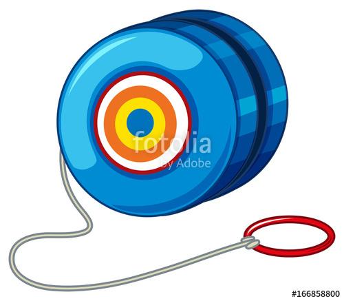 jpg free Yoyo clipart round. Blue yo with red