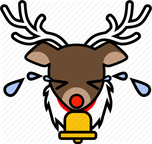 clipart royalty free stock Santa and reindeer icon. Yoyo clipart vector