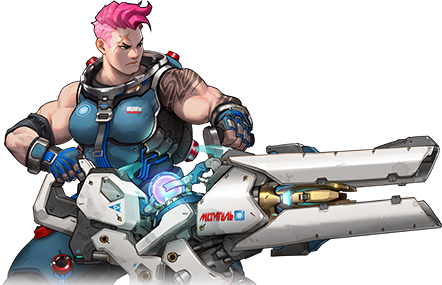 graphic black and white stock Zarya Overwatch Transparent