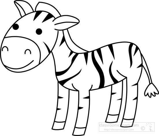 clip library stock Animals outline classroom . Zebra black and white clipart