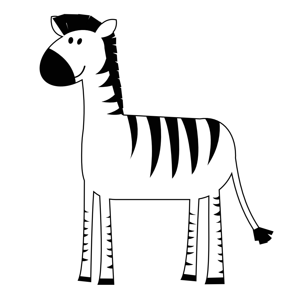 clip art freeuse library Zebra black and white clipart. Clipartist net clip art